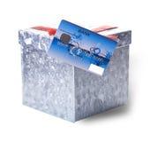 Carta assegni e scatola per i regali Fotografia Stock Libera da Diritti