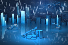 Carta da finança do negócio, diagrama, barra, gráfico fotografia de stock