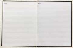 Carta bianca in bianco del taccuino Fotografia Stock