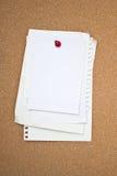Carta in bianco. Immagine Stock