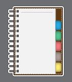 Carta in bianco con il profilo di vettore del taccuino Fotografia Stock