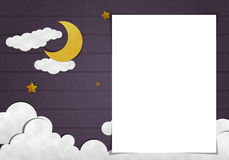 Carta in bianco ed arte della carta Immagini Stock