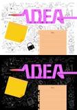 Carta blanca de los conceptos de las ideas Foto de archivo