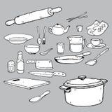 Carta blanca del icono de los accesorios del cuarto de baño Imagen de archivo libre de regalías