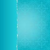 Carta blu con un modello Fotografia Stock