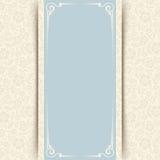 Carta blu e beige dell'invito con il modello floreale Vettore EPS-10 Fotografia Stock