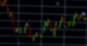 Carta borrada do mercado de valores de ação video estoque