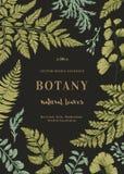 Carta botanica per con le foglie Fotografia Stock