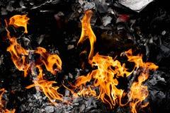 Carta bruciante del fuoco così calda Fotografia Stock