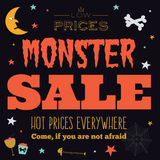 Carta calda luminosa di vendita di Halloween Immagini Stock