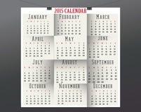 Carta Calendar-2015 Fotografie Stock Libere da Diritti