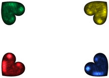 Carta colorata del focolare Fotografia Stock
