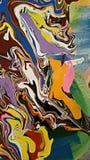 Carta colorata del marmo Fotografia Stock