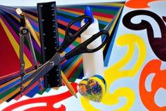 Carta colorata e modelli per la creatività dei bambini fotografia stock libera da diritti
