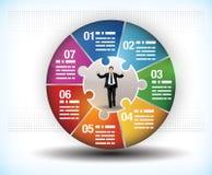 Carta colorida de la rueda del negocio stock de ilustración