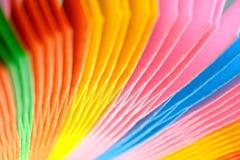 Carta colourful vaga su fondo Fotografie Stock