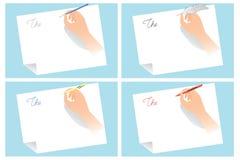 carta comercial stock de ilustración