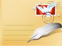 Carta con buenas noticias Foto de archivo libre de regalías