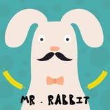 Carta con coniglio Coniglietto divertente Immagini Stock Libere da Diritti