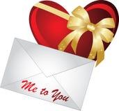 Carta con el corazón Foto de archivo libre de regalías
