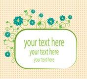 Carta con i fiori Fotografie Stock