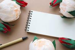 Carta con i fiori e lo spazio della copia Immagini Stock