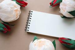 Carta con i fiori e lo spazio della copia Immagine Stock