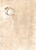 Carta con i segni della tazza di caffè Fotografie Stock Libere da Diritti