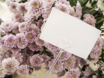 Carta con il fiore Fotografia Stock