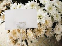 Carta con il fiore Immagini Stock