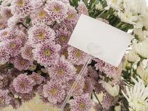 Carta con il fiore Immagini Stock Libere da Diritti