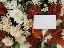 Carta con il fiore Immagine Stock