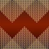 Carta con il modello della maglia dorata Fotografie Stock Libere da Diritti