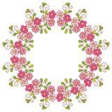 Carta con il modello floreale. Immagini Stock Libere da Diritti