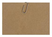 Carta con il paperclip Fotografie Stock Libere da Diritti