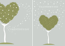 Carta con l'albero di amore Immagini Stock Libere da Diritti