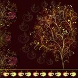 Carta con l'albero stilizzato astratto Fotografia Stock Libera da Diritti