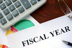 Carta con l'esercizio fiscale immagine stock