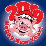 Carta con la congratulazione su un nuovo anno immagine stock