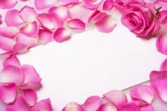 Carta con las rosas imagenes de archivo