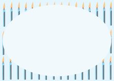 Carta con le candele blu Immagine Stock Libera da Diritti