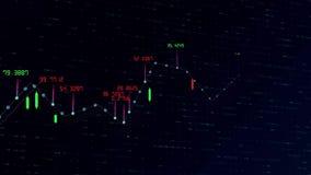 A carta conservada em estoque financeira positiva de Digitas cresce acima animação abstrata 3840 do valor da carta do mercado glo ilustração do vetor