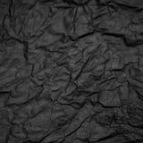 Carta crampled il nero Fotografia Stock Libera da Diritti