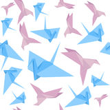 Carta Crane Background Pattern di origami Vettore Immagine Stock Libera da Diritti