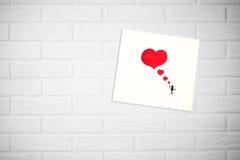 Carta creativa di giorno del ` s del biglietto di S. Valentino in uno stile scandinavo con vuoto Immagini Stock