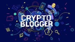 Carta cripto di blogger Fotografia Stock
