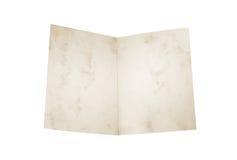 Carta d'annata in bianco isolata Immagini Stock