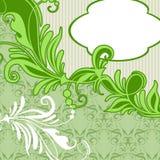 Carta d'annata con fondo floreale verde Fotografia Stock Libera da Diritti