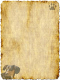 Carta d'annata con il bassotto tedesco immagine stock libera da diritti
