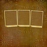 Carta d'annata con le strutture di lerciume per le foto Fotografie Stock Libere da Diritti